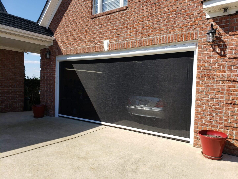 motorized garage door screens