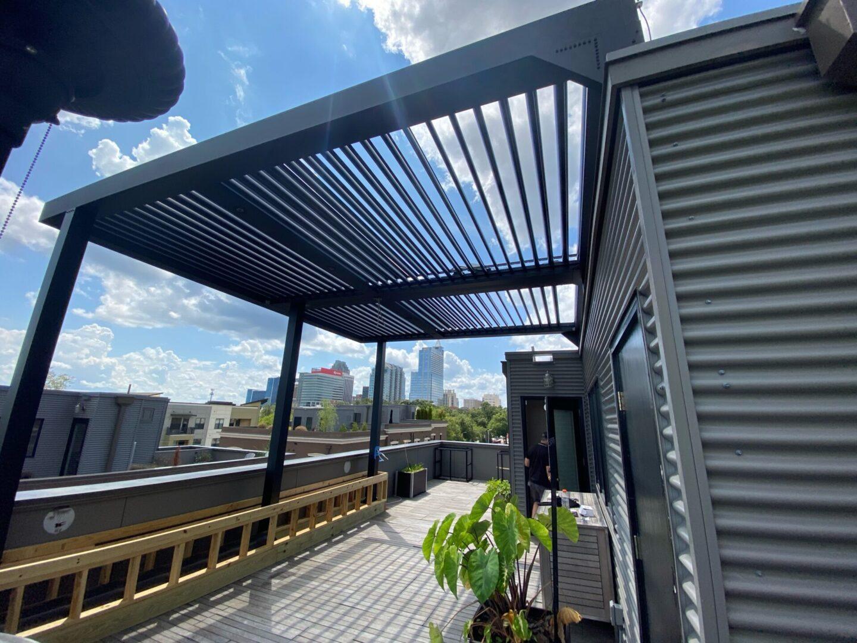 Retractable Rooftop Pergola